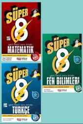 Süper 8. Sınıf Matematik, Türkçe, Fen Bilimleri Set Nitelik Yayınları