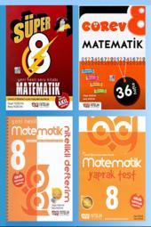Süper 8. Sınıf Matematik Yeni Nesil Soru Kitabı 4l...