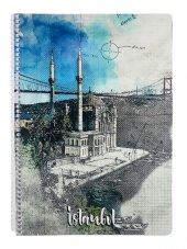 İstanbul Ortaköy Camii A4 Çizgili Defter - 80 Yaprak - Keskin Color