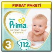 Prima Premium Care 3 Beden 112 Adet Bebek Bezi
