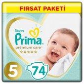 Prima Premium Care 5 Numara 74 Adet Bebek Bezi Avantajlı Paket 11 16 Kg