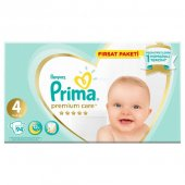 Prima Premium Care 4 Numara 94 Adet Bebek Bezi Avantajlı Paket 9 14 Kg