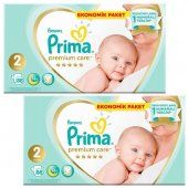 Prima Bebek Bezi Premıum Care 2 Beden 88 Adet 4 8 Kg 2li Set