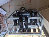 Aliminyum Mining Ethereum 12 Ekran Kartlı Rig...