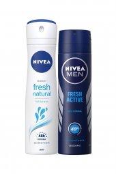 Nivea Deo Sprey Fresh Natural+fresh Active 150 Ml 2li Eko Eş Set