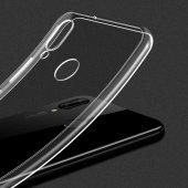 Huawei Honor Play Kılıf Ultra İnce Silikon Kapak 0.2 mm + Cam Ekr-3