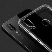 Huawei Honor Play Kılıf Ultra İnce Silikon Kapak 0.2 mm + Cam Ekr-4