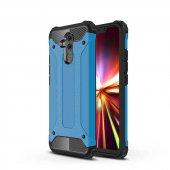 Huawei Mate 20 Lite Kılıf Zore Crash Silikon Kapak + Cam Ekran Ko