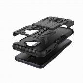 Galaxy A6 2018 Kılıf Zore Hibrit Silikon Kapak + Cam Ekran Koruyu-3