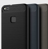 Huawei P10 Lite Kılıf Zore Room Silikon Kapak + Cam Ekran Koruyuc-7