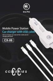 Cx 06 3 İn 1 Kablolu Araç Şarjı