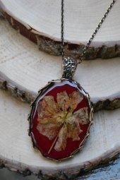 Stoneage Jewellery Gerçek Çiçek Tasarım Bayan Kolye