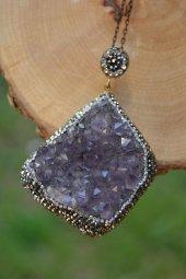 Stoneage Jewellery Ametist Bayan Doğal Taş Kolye