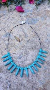 Stoneage Jewellery Turkuaz Doğal Taş Bayan Kolye