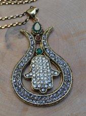 Stoneage Jewellery Nar İçinde Fatma Ana Eli Kolye