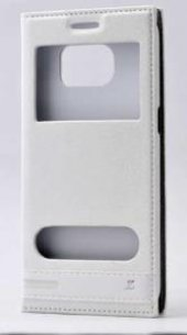 Galaxy S7 Edge Kılıf Zore Elite Pencereli Kapaklı Kılıf-4