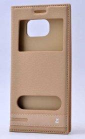 Galaxy S7 Edge Kılıf Zore Elite Pencereli Kapaklı Kılıf-5