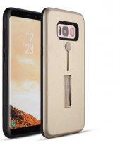 Galaxy Grand Prime Kılıf Zore Olive Standlı Sert Kapak + Cam Ekra-11