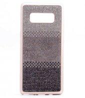 Galaxy Note 8 Kılıf Mat Lazer Taşlı Silikon Kapak-10