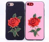 Apple iPhone 7 Kılıf Zore Rose Kapak + Cam Ekran Koruyucu Hediye-7