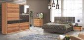 Rüzgar Bazalı Ceviz Yatak Odası Takımı