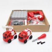Pilli İtfaiye Merkezi Erkek Çocuk Oyuncak Seti Araba Seti-2