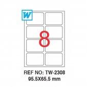 Tanex 95,5x65,5mm Laser Etiket 100lü (Tw 2308)
