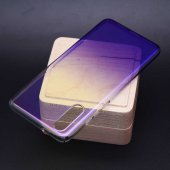 Huawei P20 Pro Kılıf Zore Renkli Transparan Kapak + Cam Ekran Kor
