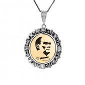 Atatürk İmza Silüet Gümüş Kolye