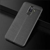 Galaxy J8 Kılıf Zore Niss Silikon Kapak + Cam Ekran Koruyucu Hedi-4