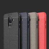 Galaxy J8 Kılıf Zore Niss Silikon Kapak + Cam Ekran Koruyucu Hedi-5
