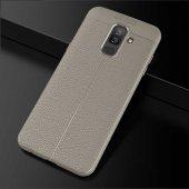 Galaxy J8 Kılıf Zore Niss Silikon Kapak + Cam Ekran Koruyucu Hedi-8