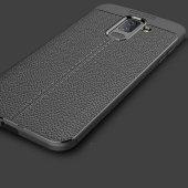Galaxy J8 Kılıf Zore Niss Silikon Kapak + Cam Ekran Koruyucu Hedi-9