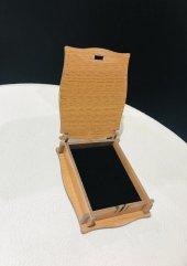 Anahtar firuze taşlı bayan gümüş kolye-2