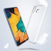 Galaxy A30 Kılıf Süper Silikon Kapak + Cam Ekran Koruyucu Hediye