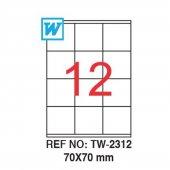 Tanex 70x70mm Laser Etiket 100lü (Tw 2312)