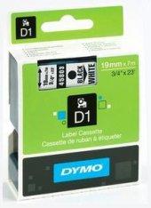 Dymo 45803 D1 Yedek Şerit 19mmx7mt Beyaz Siyah