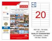 Tanex 95x26mm Laser Etiket 100lü (Tw 2020)