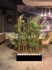 Bambu Paravan Siyah Mdf Kaide