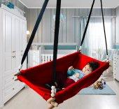 Altev Ahşap Yaylı Zıpzıp Hamak Beşik Hoppala Tavana Asılan Salıncak Bebek Yatağı Kordon Halatlı