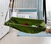 Altev Ahşap Yaylı Zıpzıp Hamak Beşik Hoppala Tavana Asılan Salıncak Bebek Yatağı Kordon Halatlı-4