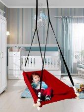 Altev Ahşap Yaylı Zıpzıp Hamak Beşik Hoppala Tavana Asılan Salıncak Bebek Yatağı Kordon Halatlı-7