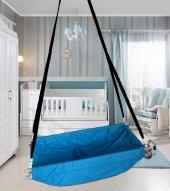 Altev Ahşap Yaylı Zıpzıp Hamak Beşik Hoppala Tavana Asılan Salıncak Bebek Yatağı Kordon Halatlı-9