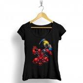 Marvel Deadpool Vs And Wolverıne Kadın Tişört