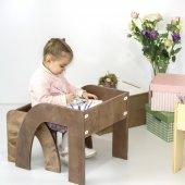 Marmara Ahşap Çocuk Çalışma Masası(Kahverengi)