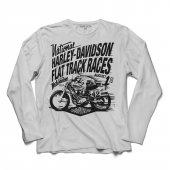 HARLEY MOTORCYCLES DAVİDSON FLAT SPEED TRACK UZUN KOLLU TİŞÖRT-2