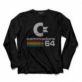 COMMODORE 61 C64 LOGO ANTİKA BİLGİSAYAR UZUN KOLLU TİŞÖRT