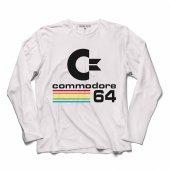 COMMODORE 61 C64 LOGO ANTİKA BİLGİSAYAR UZUN KOLLU TİŞÖRT-2