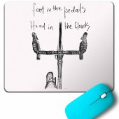 FEET IN THE PEDAL HEAD IN THE CLOUDS BIKER MOUSE PAD