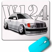 MERCEDES BENZ CLASSIC W124 AMG SPORT DRİVİNG MOUSE PAD
